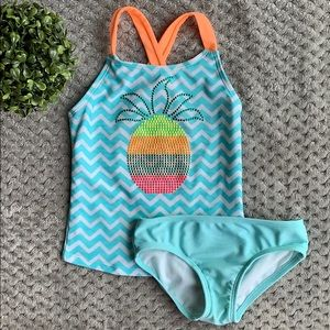 *Cat and Jack* Girls Pineapple Swimsuit